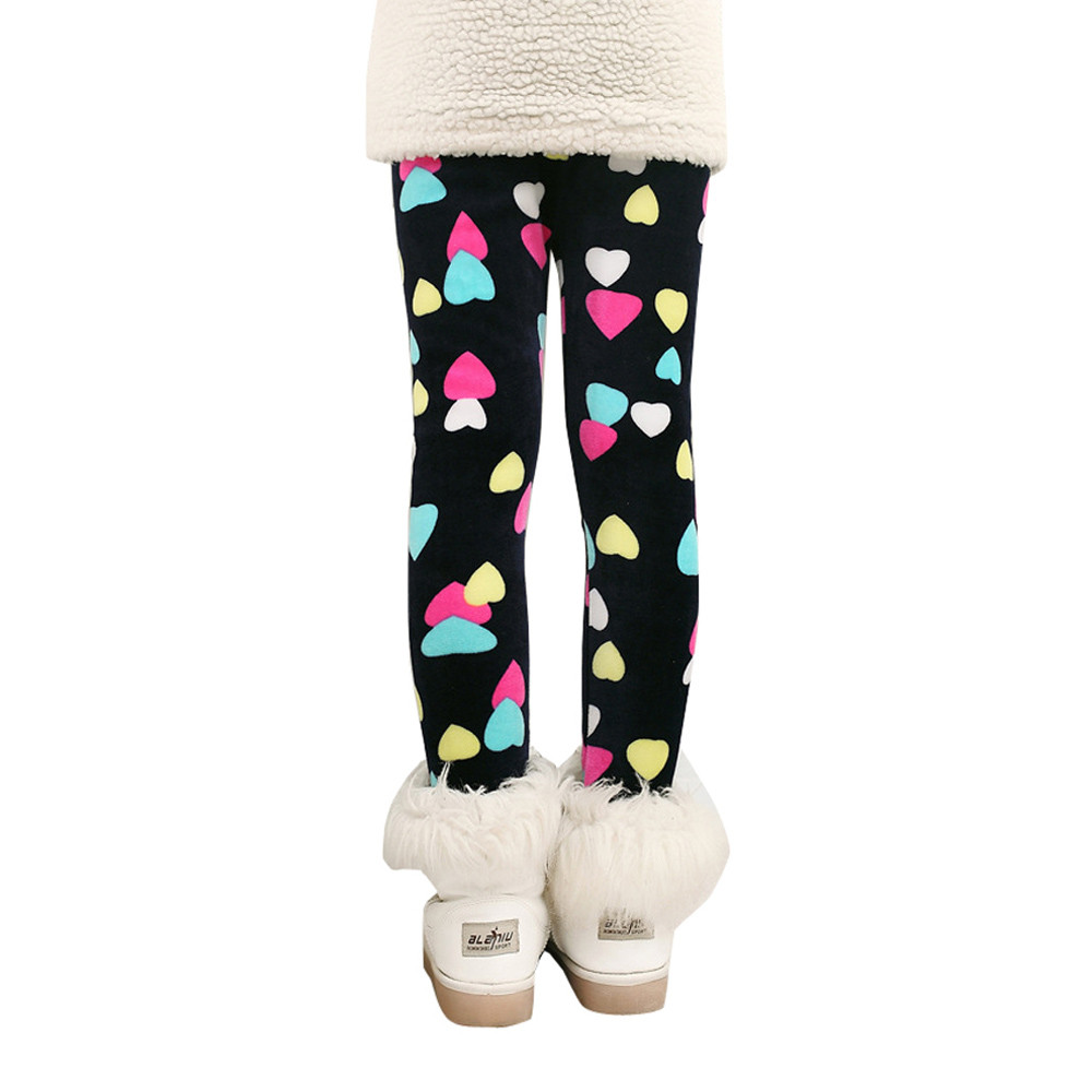 Cartoon Cute Todder Kids Baby Girls Pants Winter Fashion Thick Warm Pants Clothes Leggings Spring Autumn Drop Shipping