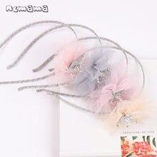 Ncmama – filet en dentelle pour filles, bandeau couronne, lunette, mode coréenne, princesse, nœud, accessoires pour enfants