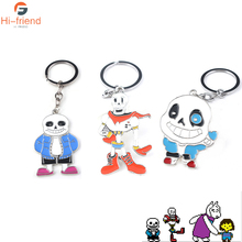 HOT Game Undertale Keychains Skeleton Papyrus Cute Figure Panda Pendant Car Keyring Boy Kids Toy Woman Men Jewelry