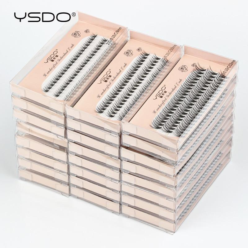 YSDO Eyelash Extension 10/20/30/40/50 Boxes Individual Lashes Wholesale Makeup C Curl False Eyelashes Extension 8/10/12MM Lashes 1