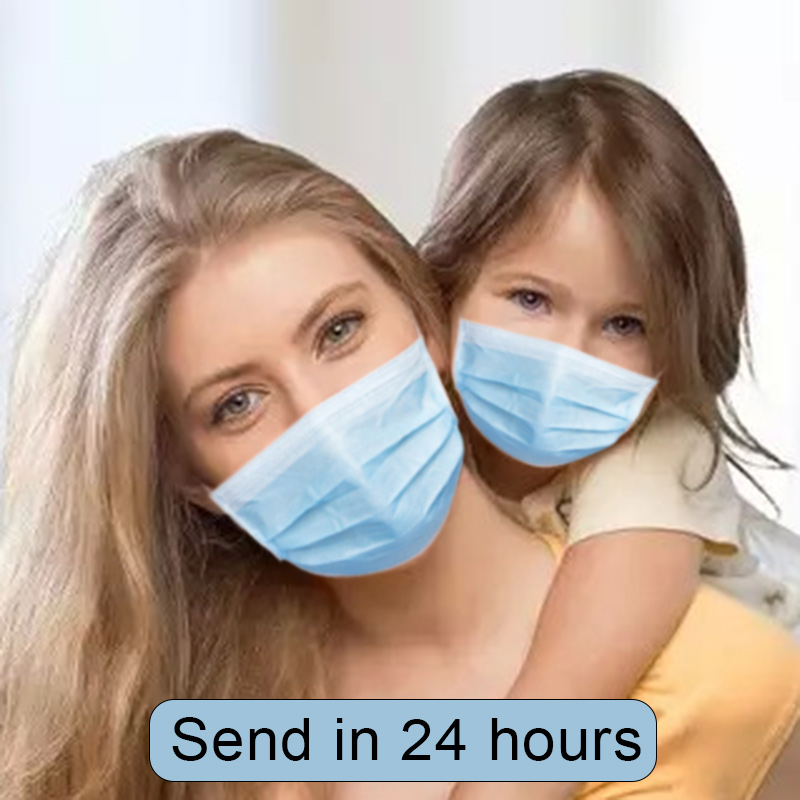 25/50/100/200pcs Kids Disposable Face Masks For Children Baby Anti Flu Pollution Filter Air Protective 3 Layers Mouth Mask