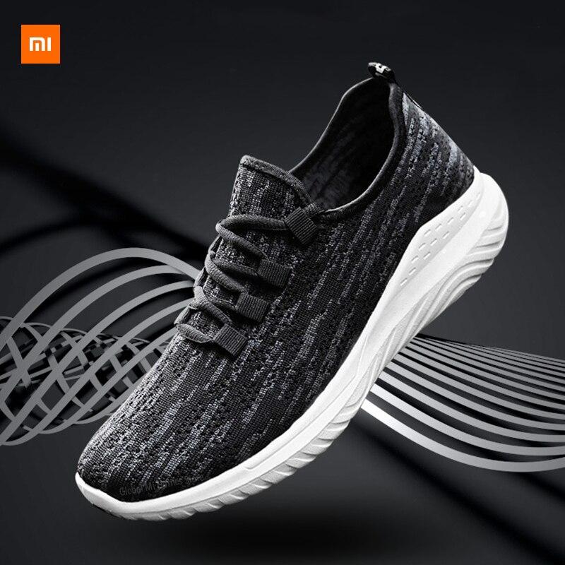 Xiaomi mijia youpin novos sapatos masculinos voando tecido tênis tendência sapatos casuais fitness running exercício