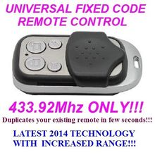 NICE flo1 flo2  flo3 Universal Remote Control Duplicator 4 Channel 433.92 fixed code