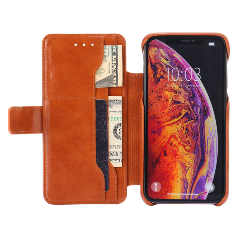 Card holder mobile phone holster mobile phone case holster for iPhone X XS 8 7 6 6S XS XR Max cow pattern drop protection cover in Flip Cases from Cellphones Telecommunications