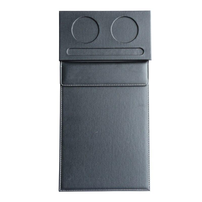 А4 кожаный фиксатор для файлов с двойным круглым отверстием, набор из двух частей, настольный офисный планшет