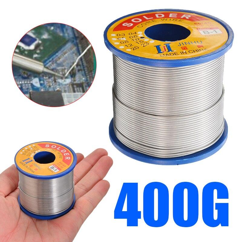 1Pcs 1.0mm 400g Solder Wire 60/40 Tin Lead Rosin Core 2.0% Flux Welding Line Welding Repair Tool For Electrical Soldering