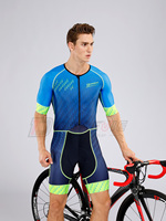 Darevie Cycling Skin Suit Man High Speed Racing Cycling Skin Suit Pro Race Bicycle Skin Suit Short Sleeve Biking Suits 3D Padded