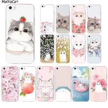 MaiYaCa flor Bonito gato Preto TPU Tampa Do Telefone para Apple iphone 11 pro 8 7 66S Plus X XS MAX 5S SE XR fundas Capa(China)