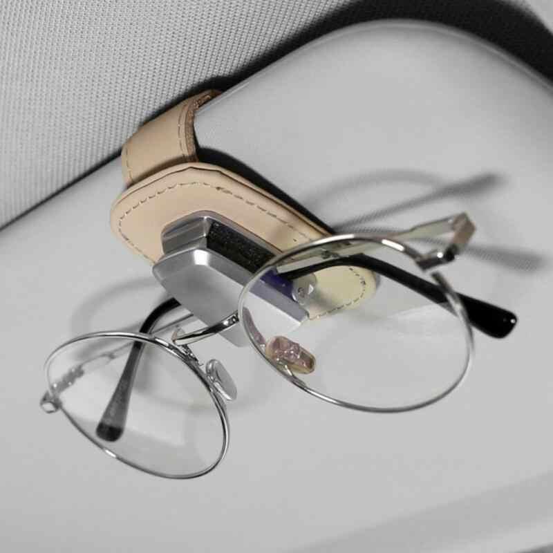 SunGlasses Clips Holder Car Sun Visor Rotatable Bill or Card Clamp Black
