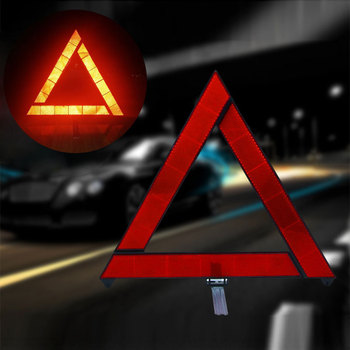 Samochód awaryjny trójkąt ostrzegawczy czerwony odblaskowy zagrożenie bezpieczeństwa samochód statyw składany znak stop reflektor cinta reflectante tanie i dobre opinie Car Emergency Breakdown Warning Triangle Red Reflective Safety Hazard