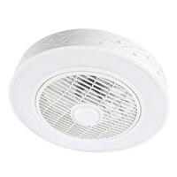 Led ventilador de teto lâmpada luz com controle remoto suppot telefone móvel bluetooth controle app conectar fãs invisíveis iluminação para casa