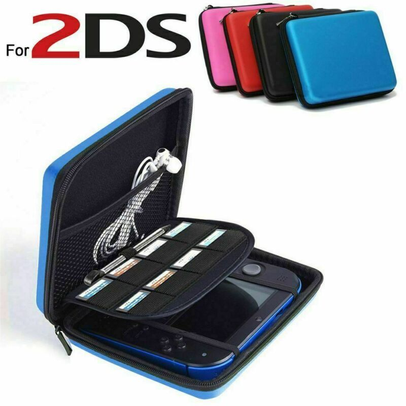 Carry Case For 2DS Nintendo Hard Protective Eva Bag Game Storage Dual Zipper CA