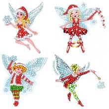 4 шт милые наклейки с рисунком из мультфильма алмазная вышивка