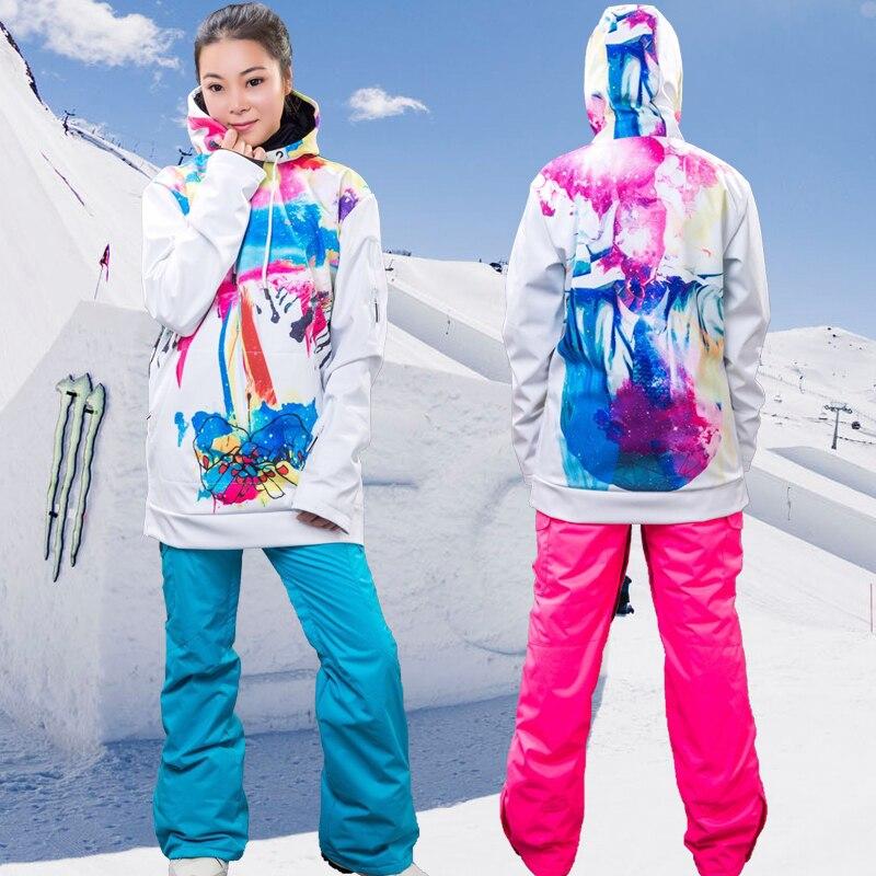 Nouveaux hommes et femmes manteau de neige tenue de sport en plein air snowboard Ski Skate randonnée alpinisme à capuche imperméable coupe-vent vestes
