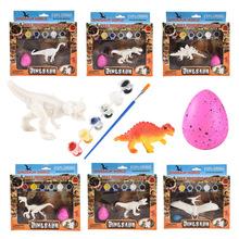 Zwierząt malowanie DIY malowane Model dinozaura Model symulacyjny zabawki ręcznie malowane Doodle dinozaur jajo dinozaura prezent sztuka i rzemiosło tanie tanio TAKARA TOMY CN (pochodzenie) Unisex Jeden rozmiar 13-20 cm 6 lat Temat Zachodnia animiation Wyroby gotowe Animals Dinozaury