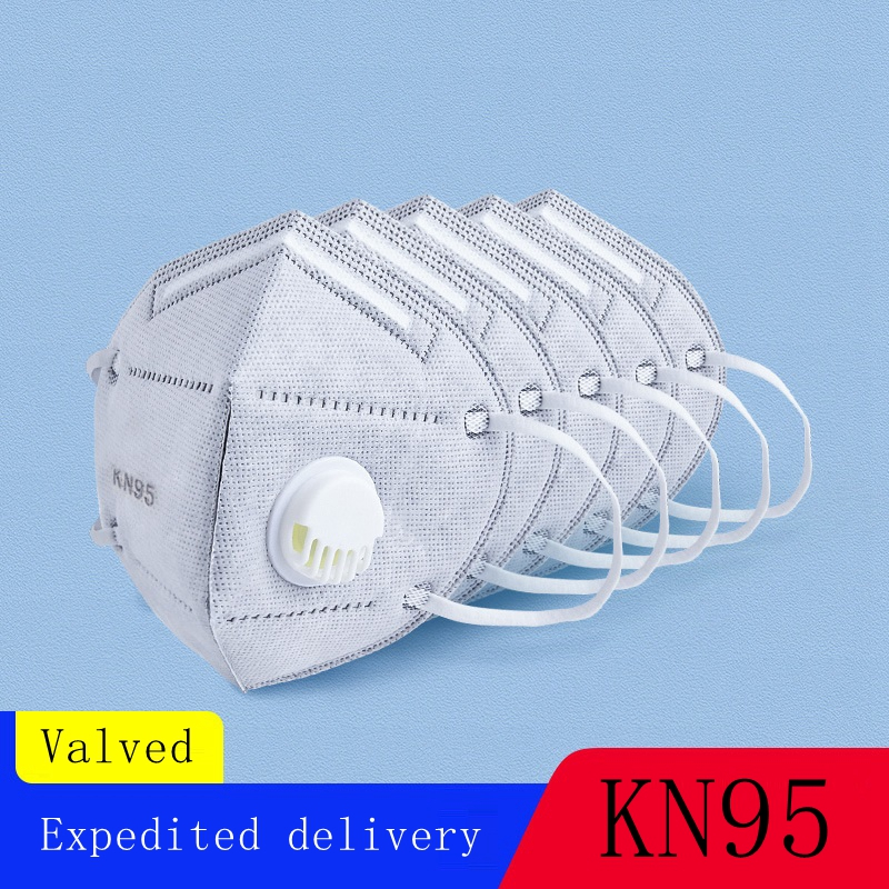 10PCs KN95 Folding Valved Dust Mask PM2.5 Mouth And Nose Protection Proof Face Mouth Breathable Features As KF94 FFP2 Face Mask