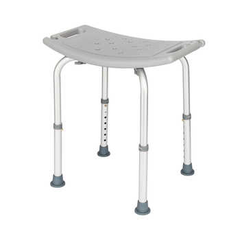Aluminium Alloy Elderly Bath Chair without Back of a Chair Gray Elderly Bath Chair without Back of a Chair