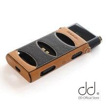 Dd ddhifi C-M15 caso de couro genuíno para fiio flagship dap music player m15 com botão livre capa Knob-M15 e cordão
