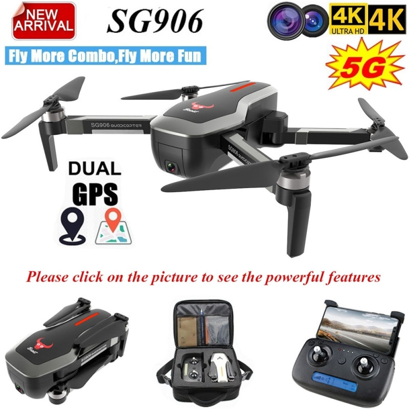 SG906 Dual GPS Professional Drone 5G WIFI FPV  With Selfie Foldable 4K HD Camera RC Drone Foldable Quadcopter 800m Long Distance