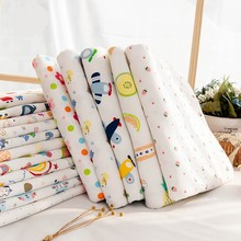 Baby Fabric Knit Jersey Print Fabric Sewing Material For Children's Garment 50*40cm Or 50*95cm TJ0076