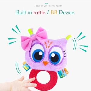 Image 3 - Animaux main cloches anneau de dentition hochet poupée en peluche bébé hochets jouets infantile Newbron éducation précoce jouets singe Panda Lion chien
