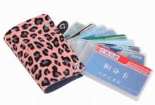 Leopard leather fashion ladies card bag card bag rotating card holder banjini bathroom bag bagping cotton card card card card cotton