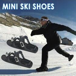 Mini Ski Skates Für Schnee Kurze Skiboard Outdoor Reise Snowboarden Schuhe Einstellbare Skifahren Mini Schlitten Snowboard