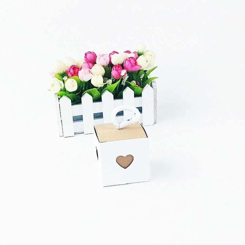 ใหม่ 50pcs หัวใจตกแต่งงานแต่งงานวันเกิด Candy กล่องกระเป๋าที่สวยงามขนาดเล็ก PARTY Favor ของขวัญถุงชาบรรจุภัณฑ์กระดาษคราฟท์กล่อง