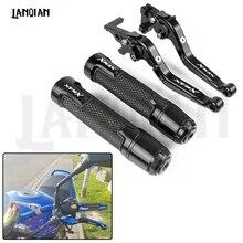 цена на For Yamaha XMAX 250 XMAX 300 XMAX 125 Motorcycle Brake Clutch Lever & 7/8 22MM Handlebar Grips XMAX 400 300 250 2017 2018 2019