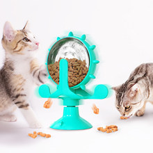 Interactive Cat Toy, Training Toy, Automatic Cat Food outing Wheel toy, Cat windmill Cat toy Cat supplies Food toy