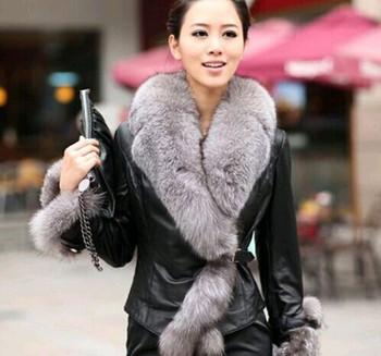 Gorący sprzedawanie Faux odzież z futrem płaszcz futro kołnierz płaszcz ciepły Haining odzież z futrem oferta specjalna damska odzież z futrem tanie i dobre opinie Well Soft 2 37