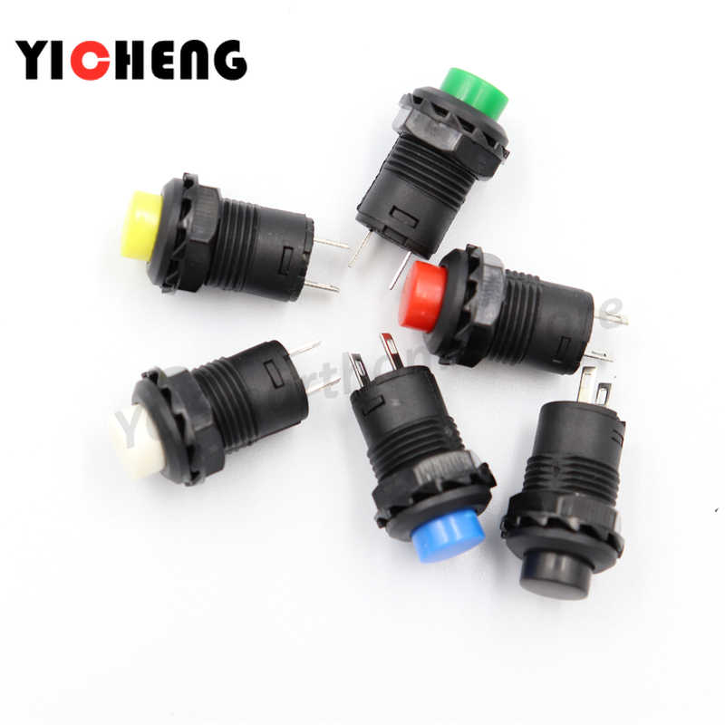 6 Pcs Self-Lock/Sejenak Tekan Tombol Switch DS228 DS428 12 Mm Off-On Push Button Switch 3A /125VAC 1.5A/250VAC DS-228 DS-428