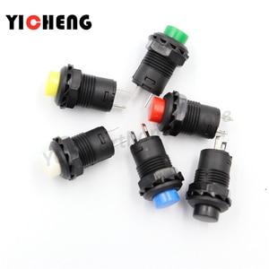 6pcs Self-Lock /Momentary Pushbutton Switches DS228 DS428 12mm OFF- ON Push Button Switch 3A /125VAC 1.5A/250VAC DS-228 DS-428(China)
