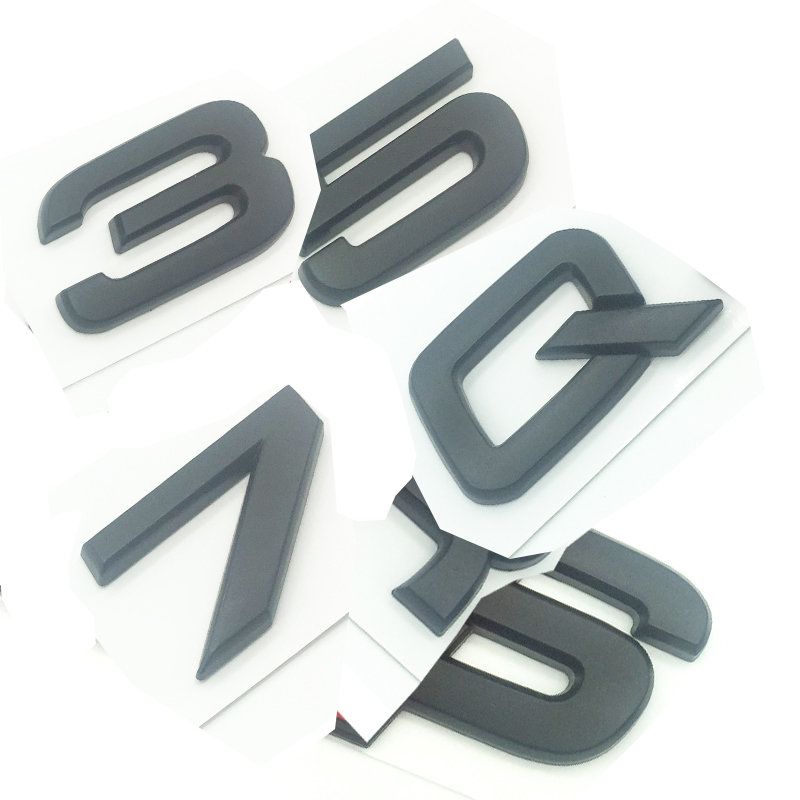 RS3 OEM ABS Nameplate compatible for Audi RS 3 4 5 6 7 8 Rs3 RS4 Rs5 Rs6 Rs7 Rs8 Chrome Silver Emblem 3D Trunk Logo Badge Compact