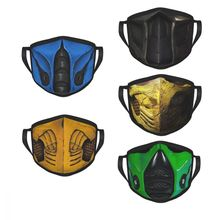 Mortal Kombat Reusable Mouth Face Mask Scorpion Sub Zero Game Anti Haze Anti Dust Protection Cover Respirator Mixed Muffle