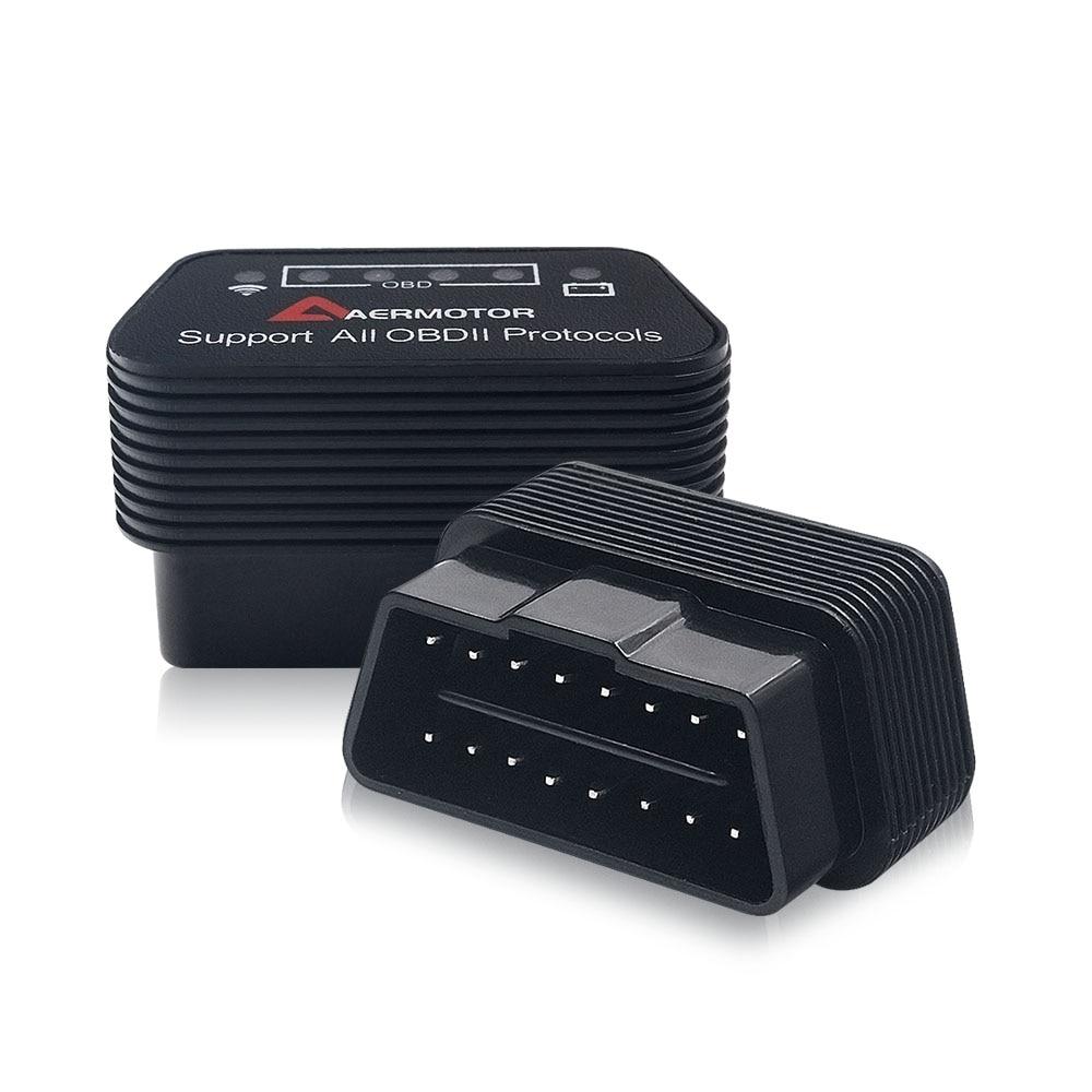 ELM327 V1.5 OBDII herramienta de diagnóstico de coche WiFi para Android IOS adaptador de lector de código OBD2 para Peugeot Renault Fiat LADA Nuevo ELM327 USB OBD2 herramienta de diagnóstico de Auto coche ELM 327 V1.5 interfaz USB OBDII CAN-BUS escáner Venta caliente ~
