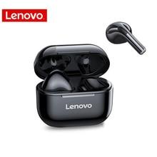 Lenovo LP40 TWS kulaklık dokunmatik kontrol çift Stereo bas kulaklık Bluetooth 5.0 spor kablosuz kulaklık akıllı telefon 300mAH için