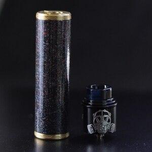 Image 5 - מקורי VapSea יואן 24mm קוטר 18650 mod ערכת סוללה מכאני mod עבור vape mod 18650 סיגריה אלקטרונית mech mod ערכת
