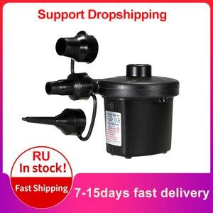 Image 1 - Şişme pompa elektrikli hava yatağı kamp pompası araba hava kompresör pompası taşınabilir hızlı dolum hava pompası araba ev kullanımı için