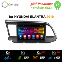 Ownice K3 K5 K6 Android 9.0 GPS Navigation 9 inch car Radio for Hyundai Elantra 2019 4G LTE 6 Channel DSP 360 Panorama Optical