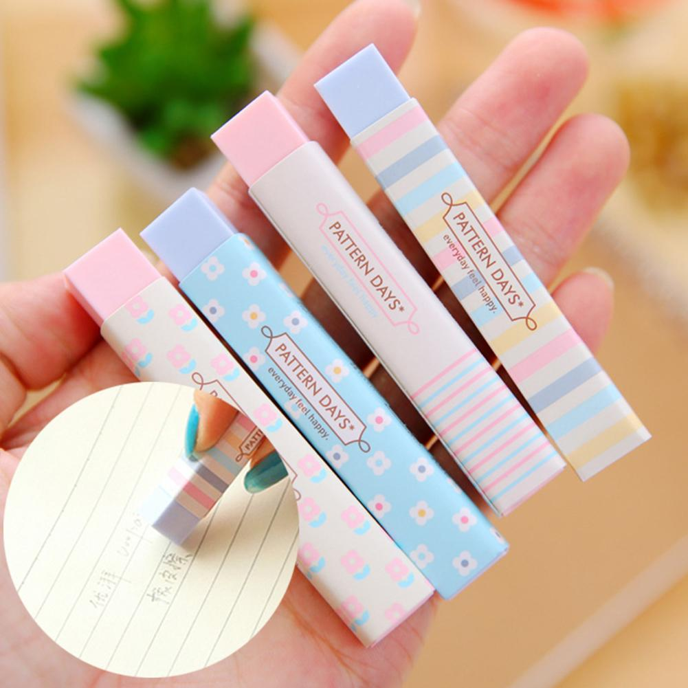 Stationery Candy Color Eraser Students School Cartoon Writing Drawing Supplies