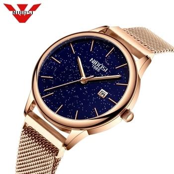 NIBOSI Women Watches Luxury Fashion Casual Waterproof Quartz Watch Sport Clock Ladies Elegant Wrist Watch Men Relogio Feminino