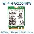 Wireless Dual Band Für Intel AX200 WiFi 6 802,11 ax/ac 2400Mbps NGFF M.2 Schlüssel E Bluetooth 5,0 karte Für Intel 9260 8265 Adapter