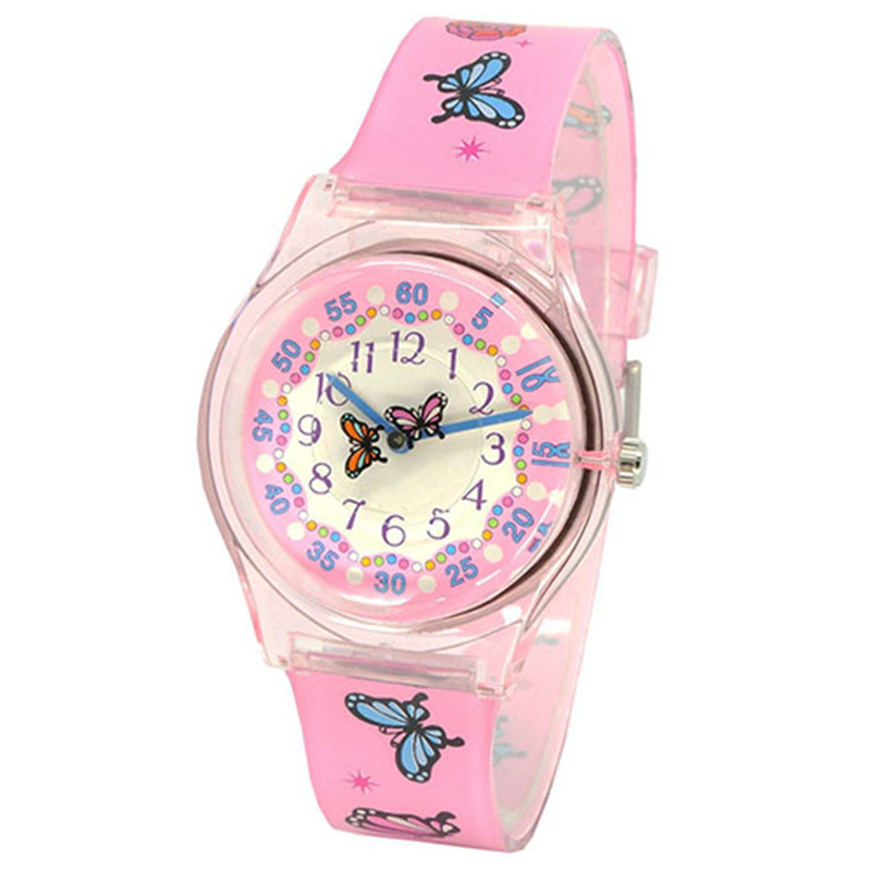 Waterproof Quartz Watch Girl Silicone Jelly Watch Cute Cartoon Pattern Children Watch Student Gift Watch
