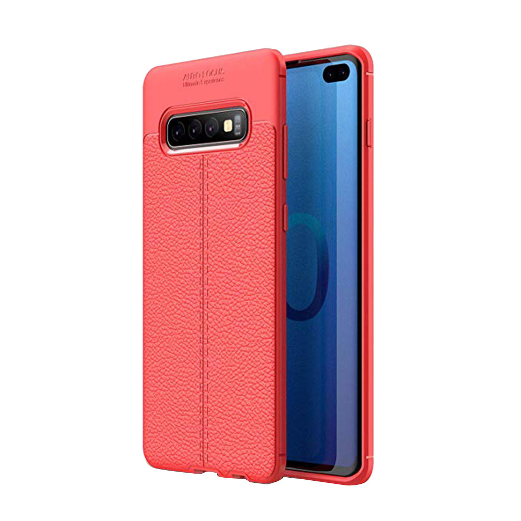 Fashion Design, Easy To Put On And Easy To Take Off. Soft Hybrid TPU Leather Case Cover For Samsung Galaxy S10 Plus 6.4Inch
