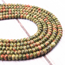 Flower Green Natural Agate Gem 4X6MM5X8MM Abacus Bead Spacer Bead Wheel Bead Accessory For Jewelry Making Diy Bracelet Necklace