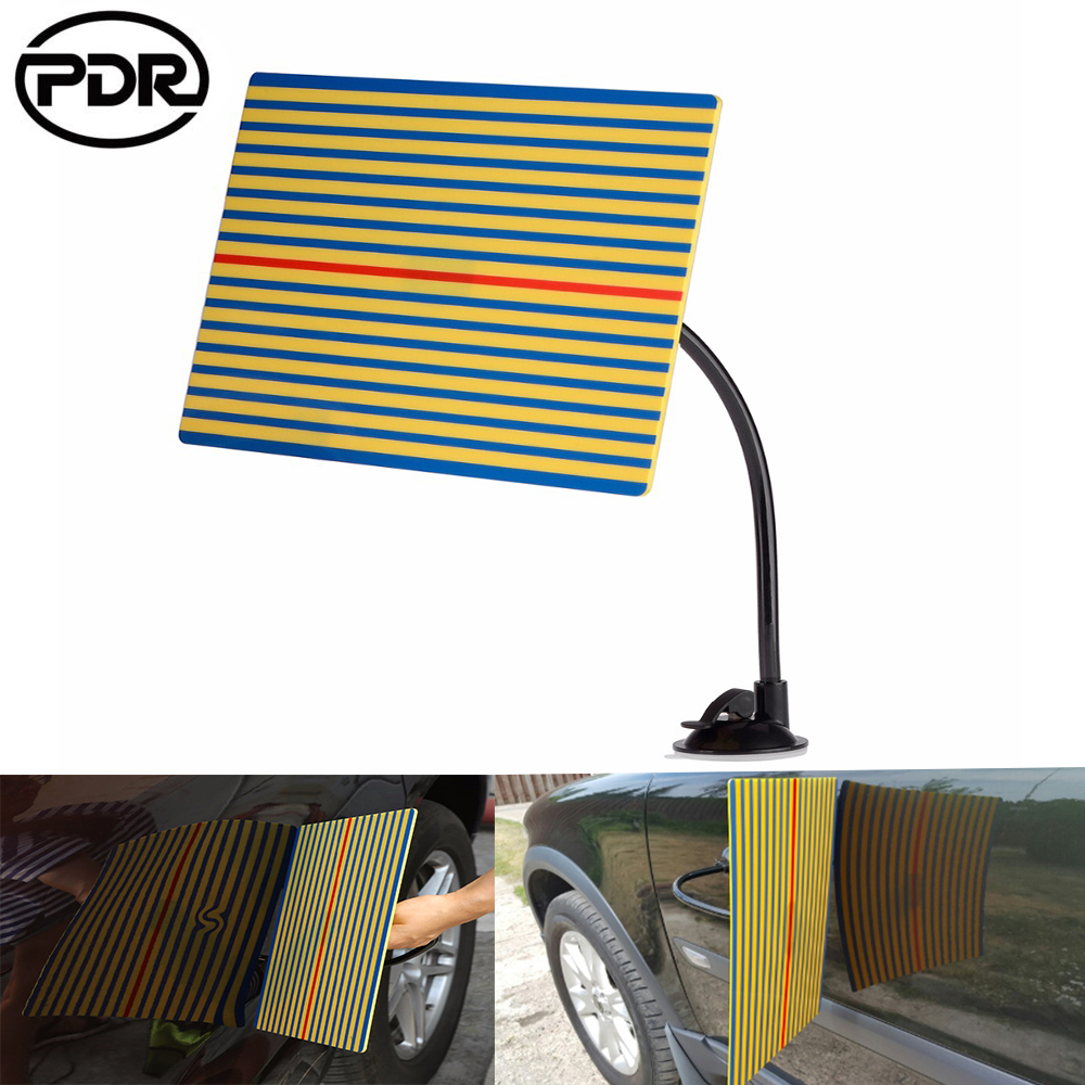 PDR Car Dent Repair Tool Wire Board Reflector Dent Repair Tools Paintless Dent Removal Checking Line Board  Reflector Set