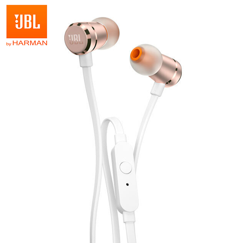 JBL T290 Original Wired Earphones Stereo Music Sports Bass Headset 1-Button Remote Hands-free Call with Mic for iPhone Android