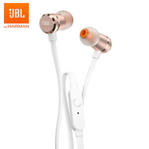 JBL T290 Original Wired Earphones Stereo Music Sports Bass Headset 1-Button Remote Hands-free Call with Mic for iPhone Android(China)