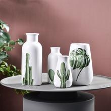 Modern Minimalist Ceramic Vase Creative Cactus Dining Room Living Flower Decoration Nordic Desktop